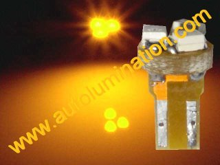 24 T6.5 T6-1.2 T2-1/4 3LED 3528 Bulbs Matrix Amber led bulbs