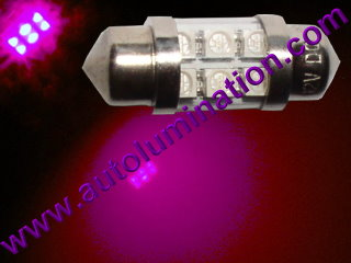 29mm festoon 3022 Led Purple UV