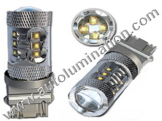 50 Watt Osram Cree 3157 replaces  3047 3057 3155 3156 3157 3157LL 3357 3454 3457 3757 4057 4114 4114LL 4114K 4157 4157LL Tail Light Turn Signal Bulb