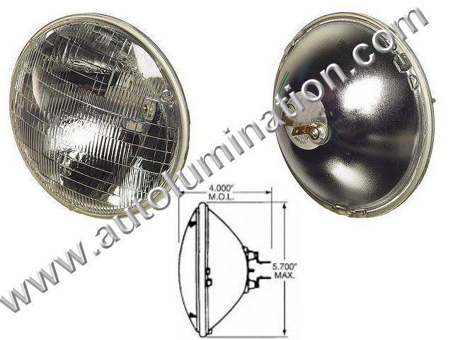 H5001 5001 Halogen Sealed Beam Conversions Headlight