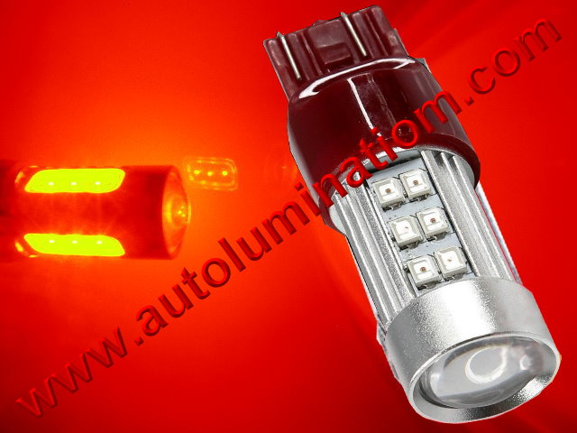 7443 7444 W21 5W 7440 W21W WY21W 7441 2835 CK Optical Red  Led Bulb
