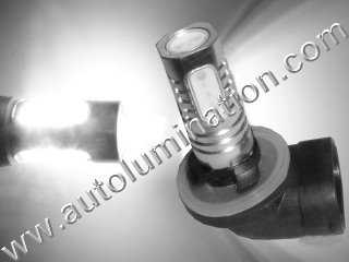 800 (Series) 862 881 886 888 889 894 896 898 899 H27/ W2 Angled Base 6000K Super White LED 10 Watt High Powered Headlight Bulb