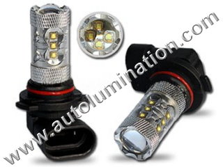 H12 9040 9045 9055  6000K Super White LED 80 Watt Cree LED High Powered Headlight Bulb