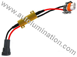 H11 PGJ19-2 Ceramic Male to Female  Headlight Socket Pigtail Connector Canbus Warning Cancellor Cancellation Harness