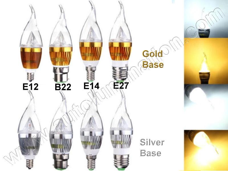 E12 E14 B22 E27 Candelabra Bulb 3 6 9 Watt Cree Led