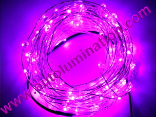 copper wire Led fairy lights  10 Meter 100 Pink