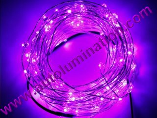 copper wire Led fairy lights  10 Meter 100 Purple