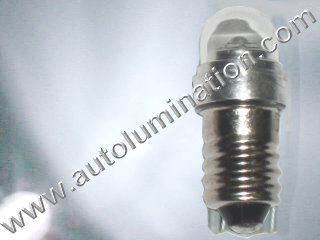 1449 E10 Screw Base Bulb Replaces: 52, 258, 428, 432, 1446, 1447