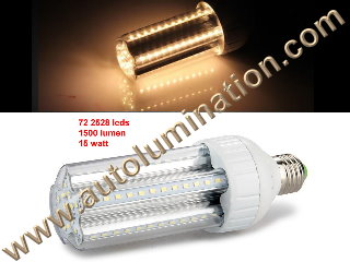 E27 Led 15 Watt 1500Lumen 2835 72 led Watt Light Bulb 3000K Warm White