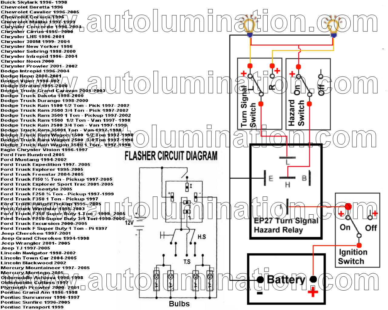 ep27_cross_reference_wm led flashers blinkers resistors load equalizers for turn signal ep35 flasher wiring diagram at couponss.co