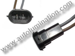 H11 PGJ19-2 Male Socket Pigtail Connector Wire