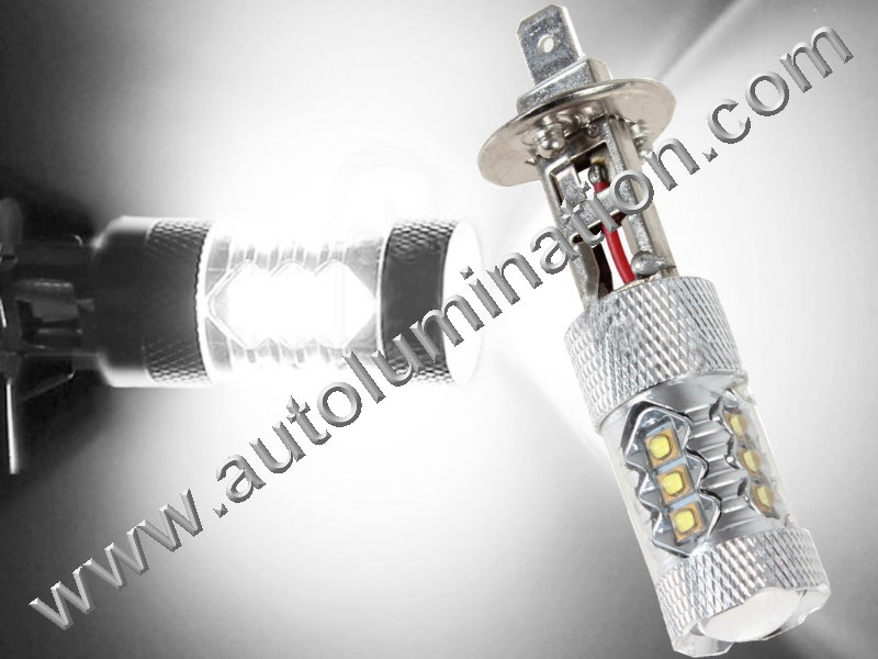 H1 P14.5s 6000K Super White LED 80 Watt Cree High Powered Headlight Bulb