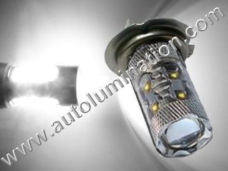 H7 Px26d 6000K Super White 50 Watt Osram LED High Powered Headlight Bulb