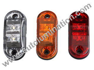Truck Trailer RV Clearance Side Marker Submersible Led Light