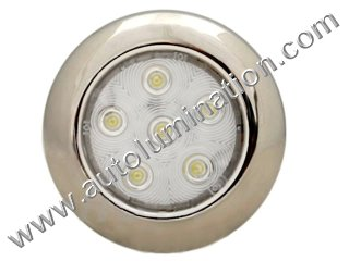 Boat Marine Overhead led light fixture Stainless Steel