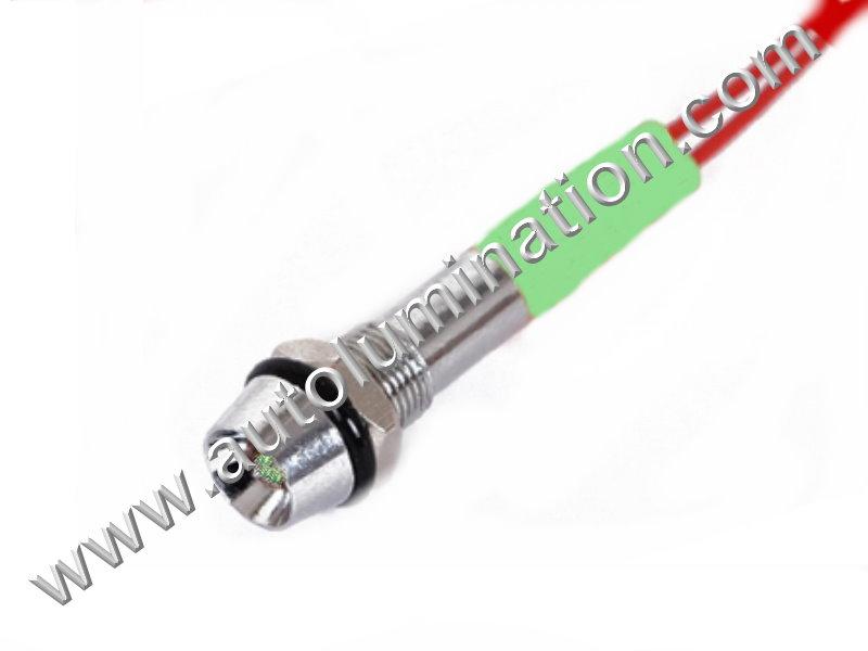 120v 110v Volt Led Screw Through Thru Hole Marine Indicator Light Green