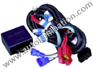 800 Series Right Angle 862 881 886 888 889 894 896 898 899 H27 / W2 Halogen Headlgiht Intensifier brightener Brighter Relay Harness