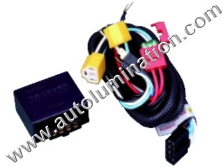 H4 Halogen Headlgiht Intensifier brightener Brighter Relay Harness