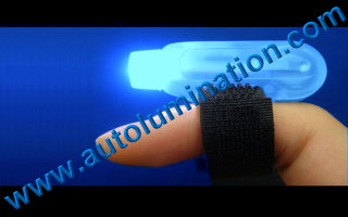 Led Finger Flashlights Blue