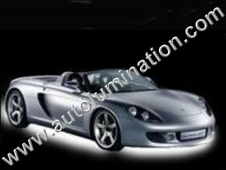 Car with Neon Underbody Light Kit White