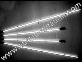 Car with Neon Underbody Light Tubes White