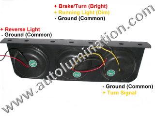 Truck Trailer RV Combination Tail Light Brake Turn Signal Reverse Back Up Light Bracket Mount Led Light Assembly