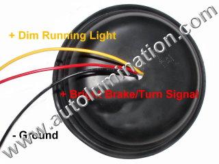 Truck Trailer RV Tail Brake Turn Signal Red Led Light