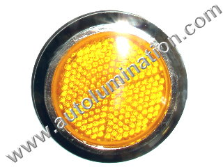 Amber Stick On Safety Reflector