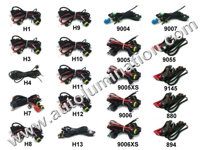 H1 H3 H4 H7 H8 H9 H10 H11 H12 H13 9005 9006 9007 9004 Relay for HID Bulb Ballast