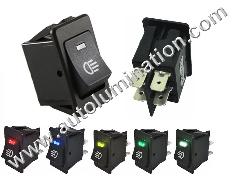 Plastic Rocker Lighted Lit Kit  Led Toggle SPDT Switch