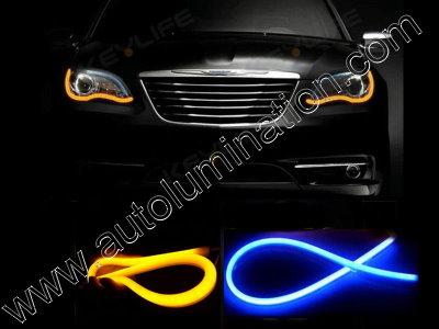 LED Strip Switchback Blue Amber Turn Signal Daylight
