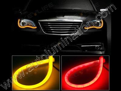 LED Strip Switchback Red Amber Turn Signal Daylight