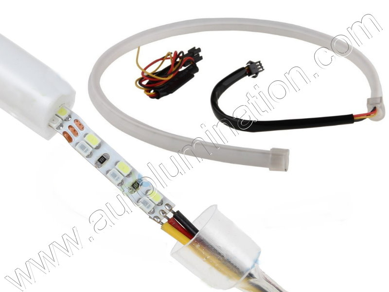 LED Strip Switchback White Amber Turn Signal Daylight