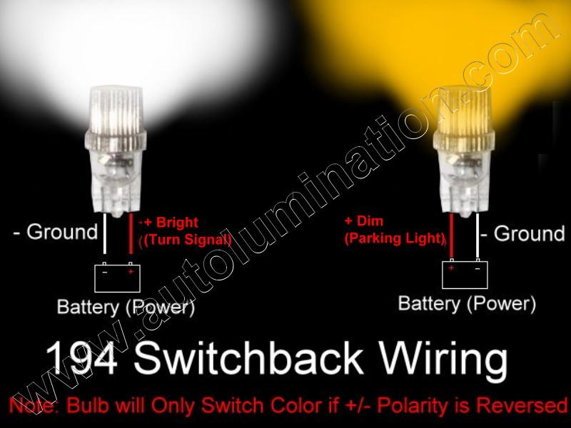 2825 194 161 168 Switchback White Amber led Bulb Wiring